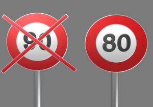 """Résultat de recherche d'images pour """"la limite de vitesse serait abaissée à 80 km sur les ré"""""""