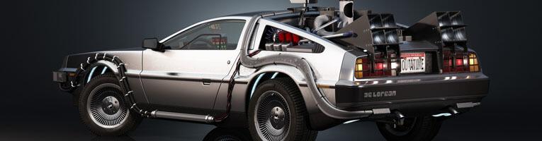 La DeLorean de Retour vers le Futur