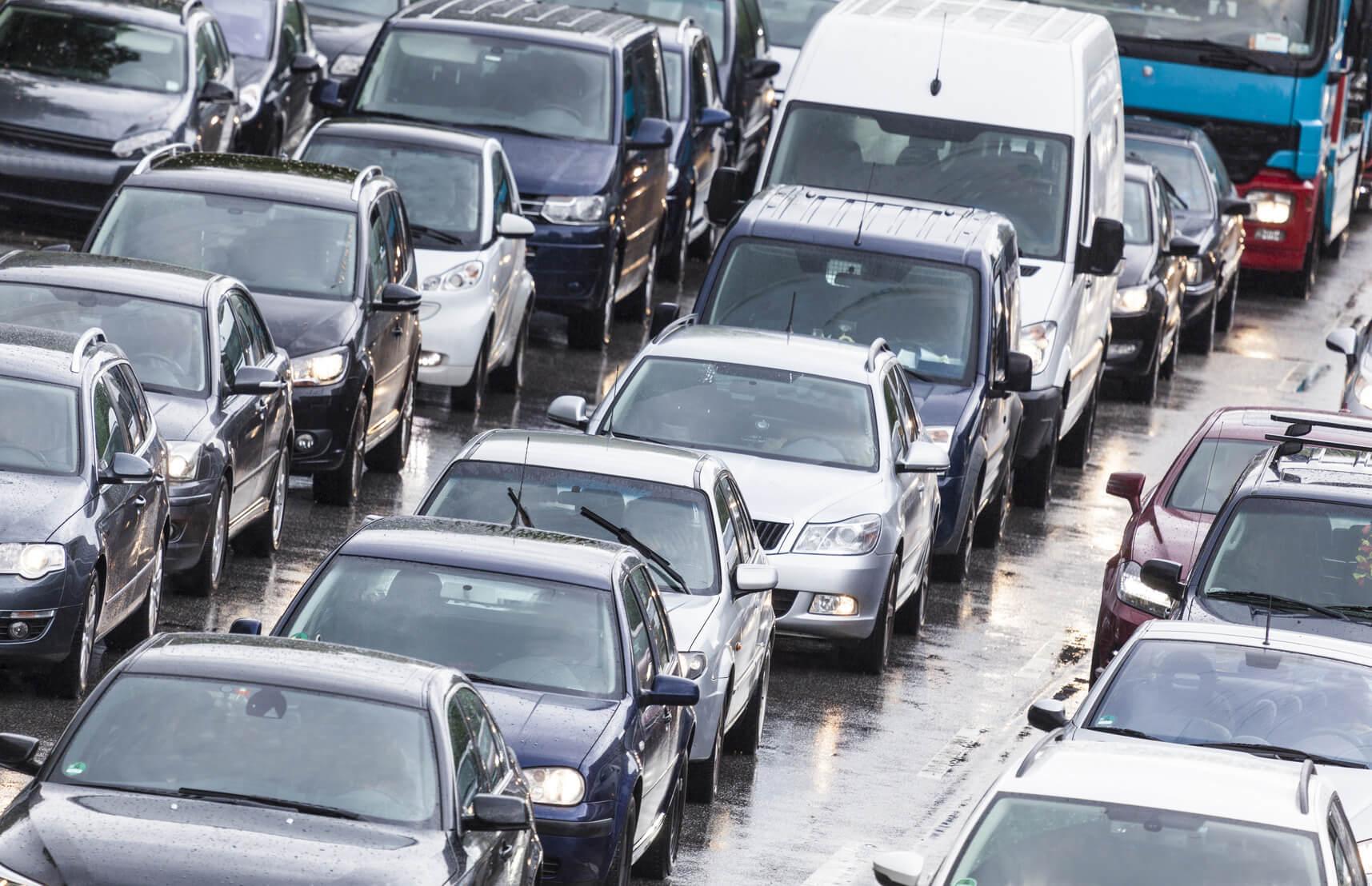 Voitures embouteillage