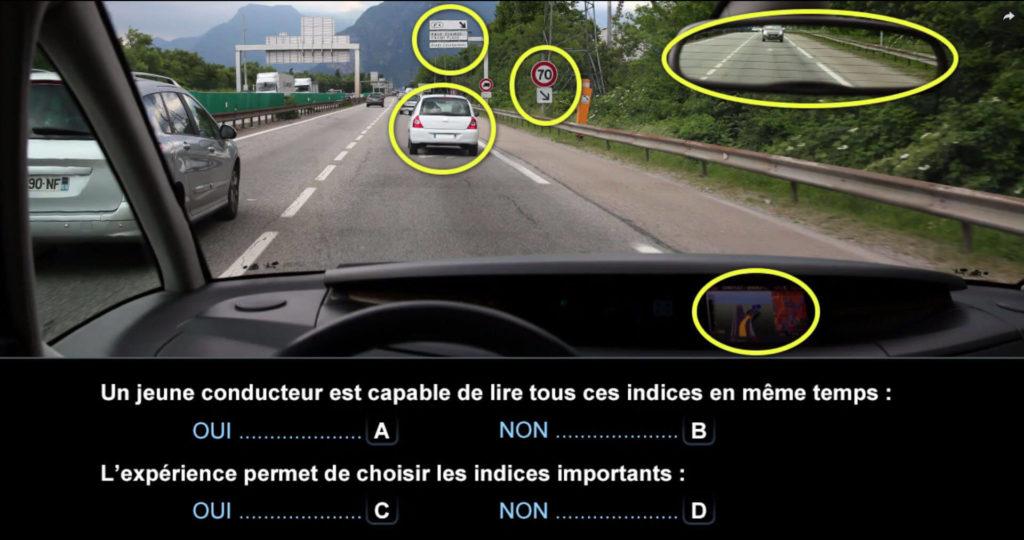 Une question de l'examen du Code de la route.